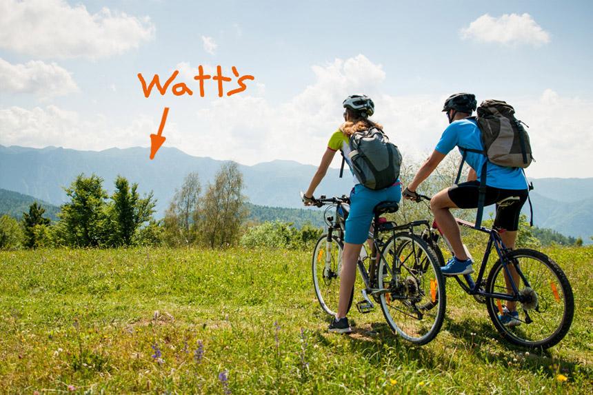 Einfach mal Bikerpause machen im schönsten Biergarten Ettlingens – Watt's Brasserie