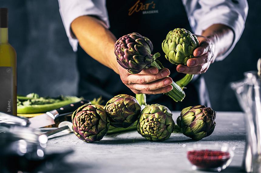 Artischocke – Frankreich auf den teller in der Watt's Brasserie
