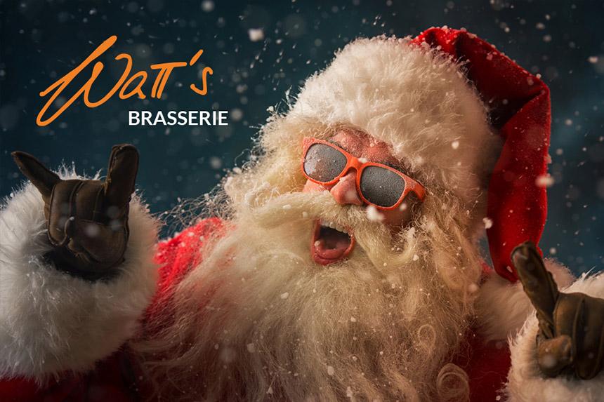 Wir, die Watt's Brasserie in Ettlingen, wünschen Euch, auch im kleinen familiären Rahmen, tolle, spaßige und coole Weihnachten.