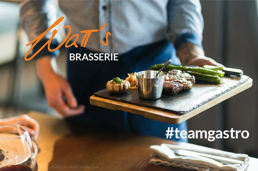 Wir benötigen in der Watt's Brasserie in Ettlingen VERSTÄRKUNG IM SERVICE-TEAM (m/w/d)!